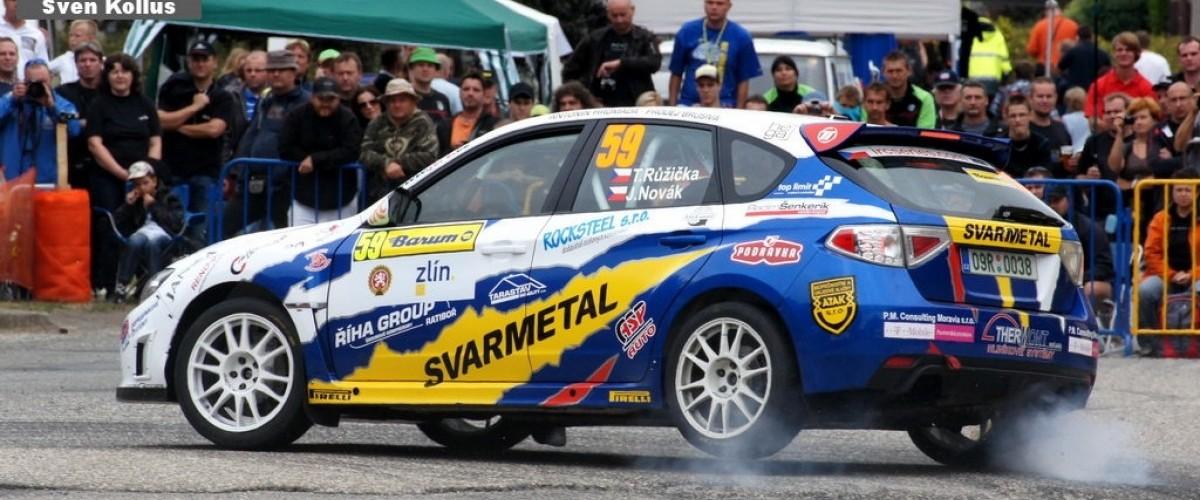 Tomáš Růžička s Jardou Novákem na Barum Rally 2012
